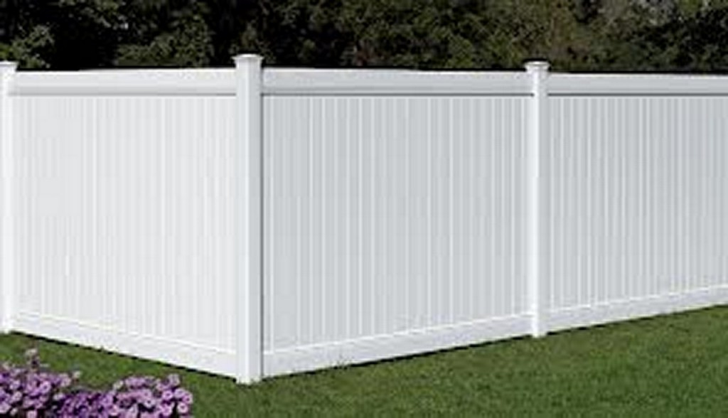 AmeriFence Corporation Madison, Wisconsin - Vinyl Fencing, 6' White Polid Privacy PVC - AFC - IA
