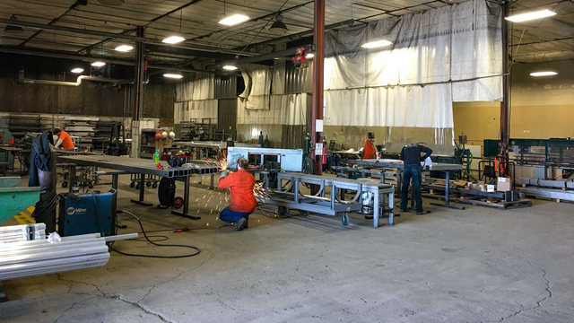 fabrication team for high security fencing