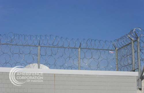 Fence Company Madison, WI B & B Hy-Security Delta Scientific Gibraltar Plus System hydraulic bollards wedge cable barrier barrier arm gate K-Rated M50 M30 K4 K8 K12 concertina wire razor wire chain link infrared detection microwave detection barbwire prison correctional airport manufacturing