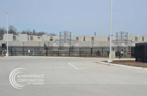 AmeriFence Corporation of Madison, WI B & B Hy-Security Delta Scientific Gibraltar Ty-Metal Plus System hydraulic bollards wedge cable barrier barrier arm gate K-Rated M50 M30 K4 K8 K12 concertina wire razor wire chain link infrared detection microwave detection barbwire prison correctional airport manufacturing vehicle restraint system vehicle testing hydraulic bollards crash cantilever gate mobile vehicle barrier crash rated