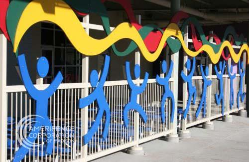 Madison Fence Company design custom metal gates manufacturing screening railings media blasting wet coat application powder coating