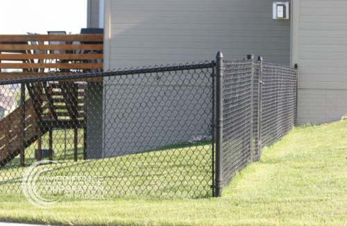 Fence Company Madison, WI residential industrial high security recreational sport ballfield tennis court basketball pickleball football stadium track high school college playground  chain link  gate posts tubing pipe top rail chain link fabric wire mesh galvanized aluminum vinyl coated black brown green 9 gauge fence fencing security perimeter hinges installation repair costs panels hardware fittings Fence Contractor Madison, WI