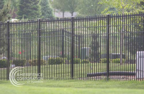 Fence Company Madison, WI ornamental custom metals decorative rail picket posts powder coating Montage Aegis Echelon Stalwart Ameristar Fortress Forester Beta Guardiar Master Halco Stephens Pipe Jamieson security quad flare spear flat top flore deliss iron steel aluminum commercial industrial classic majestic genesis warrior  panels posts caps rails prices Fence Contractor Madison, WI