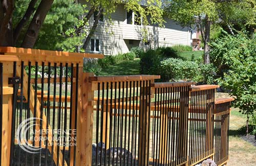 """Madison fence company residential fence contractors Wisconsin Woodland series cedar western red cedar treated pine white red yellow CCA ACQ2 incense fir 2x4 1x6 2"""" x 4"""" 1"""" x 6"""" nails stain solid privacy picket scalloped board on board shadow box pickets rails posts installation panels post caps modern horizontal backyard front yard ranch gate garden diy split rail house lattice old rustic vertical metal post picket dog ear contemporary custom"""